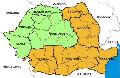 Cartina Romania Transilvania.I Tedeschi Nell Impero Austriaco